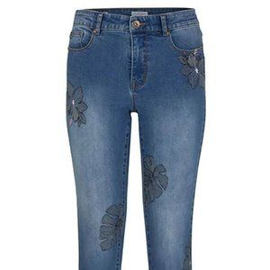 NWT Tribal jeans - Blue Leaf Pattern 2206